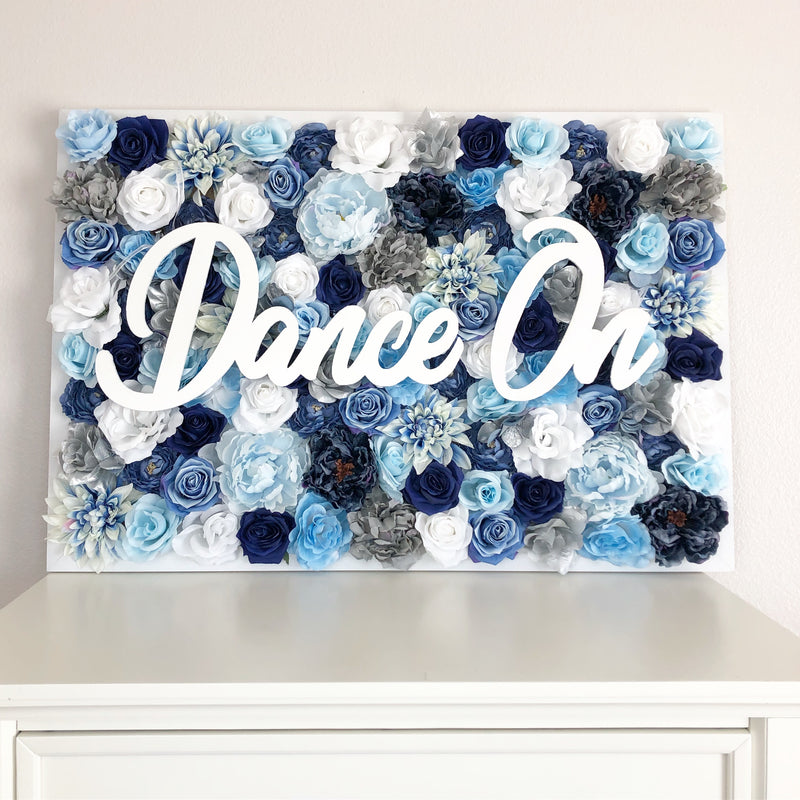 dance studio decor dance studio sign flower wall dance studio floral dance studio