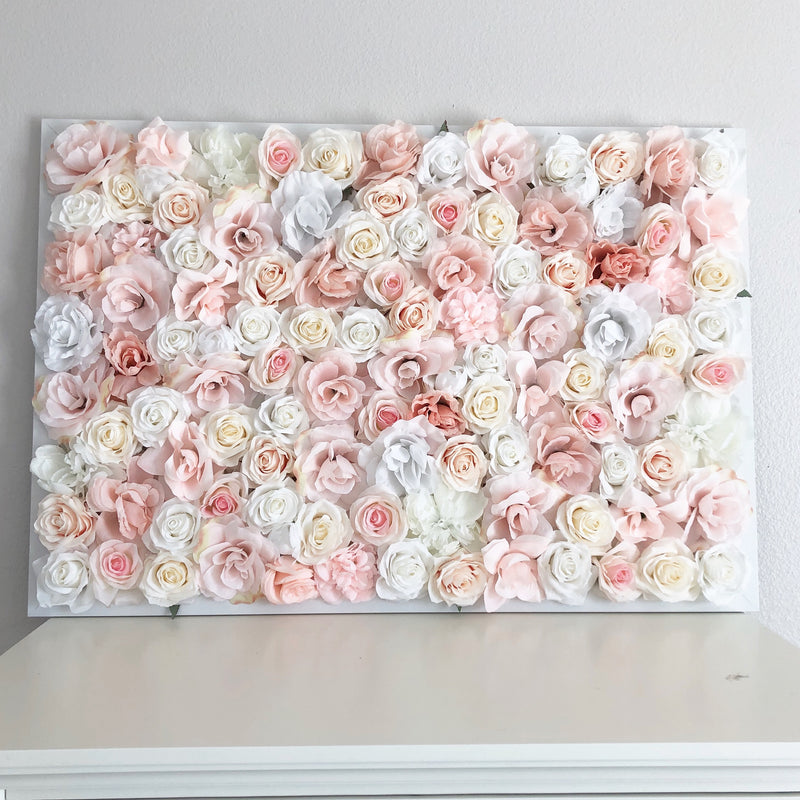 blush pink wall decor blush pink nursery blush nursery decor shabby chic nursery flower wall custom flower wall hanging
