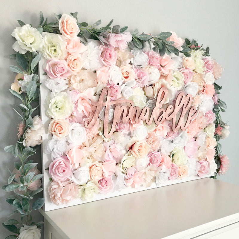 blush garland nursery garland decor floral nursery decor girl nursery baby shower decor bridal shower decor garland wedding garland name sign