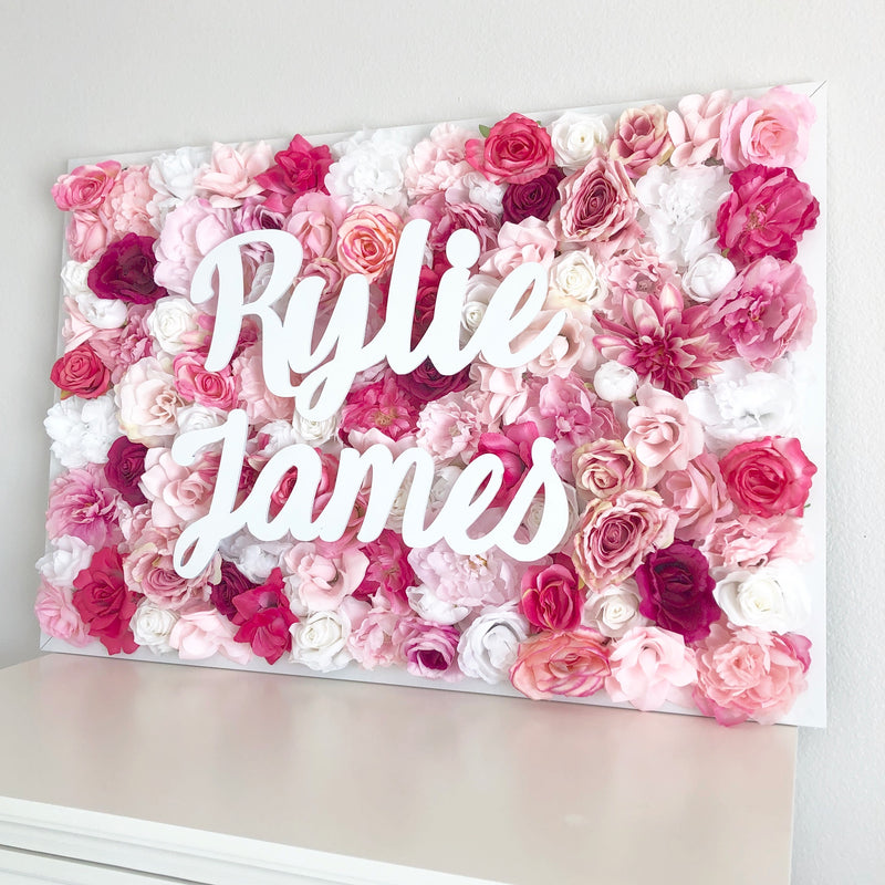 pink nursery decor flower wall nursery decor girl nursery decor name sign