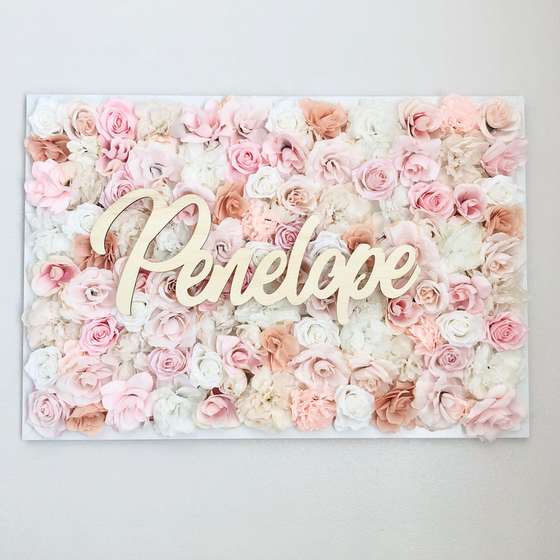 rose gold nursery decor rose gold name sign flower wall nursery decor girl nursery decor name sign