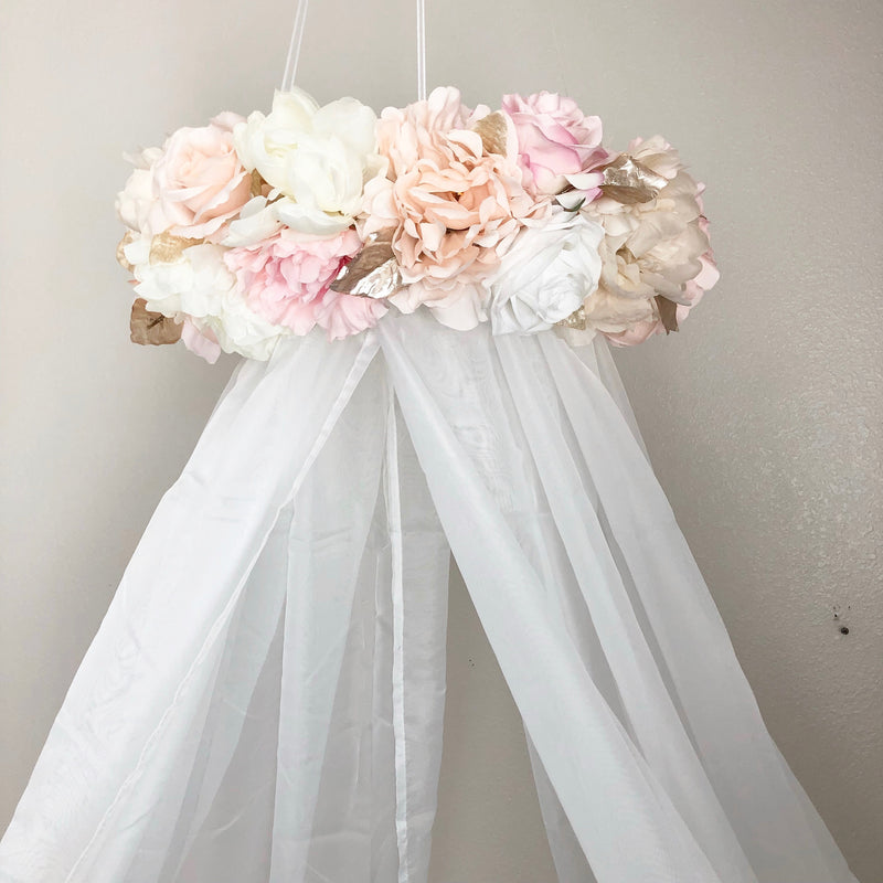 blush and gold nursery canopy princess canopy