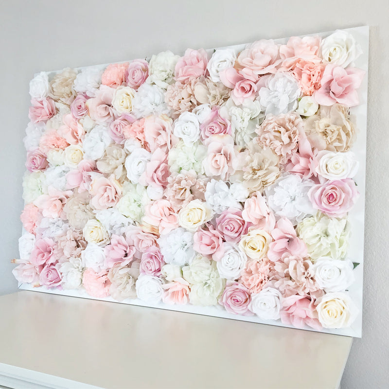 boho nursery decor floral nursery decor flower wall nursery flower wall hanging over the crib decor