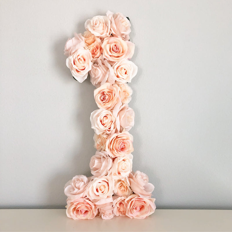 blush birthday peach birthday floral number birthday number