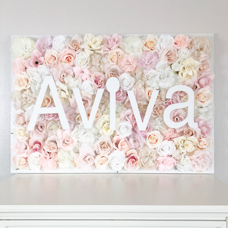 blush pink name decor nursery wall art girl nursery decor girl name sign