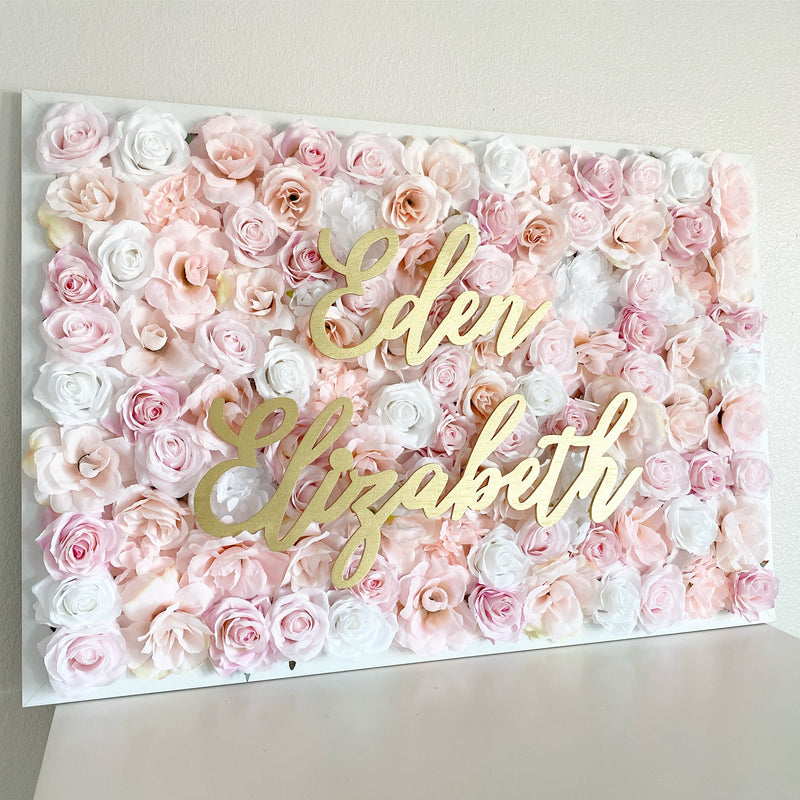 flower wall name sign nursery name sign nursery wall decor