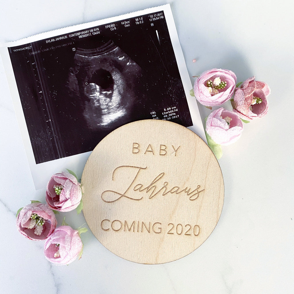 Custom Baby Announcement Wood, Wood Baby Coming in 2020, Baby Coming Soon, Personalized Baby Announcement, Custom Pregnancy Announcement