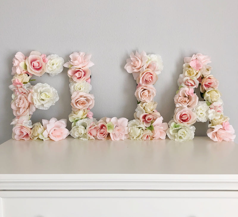 baby name decor girl name decor girl name sign floral letter