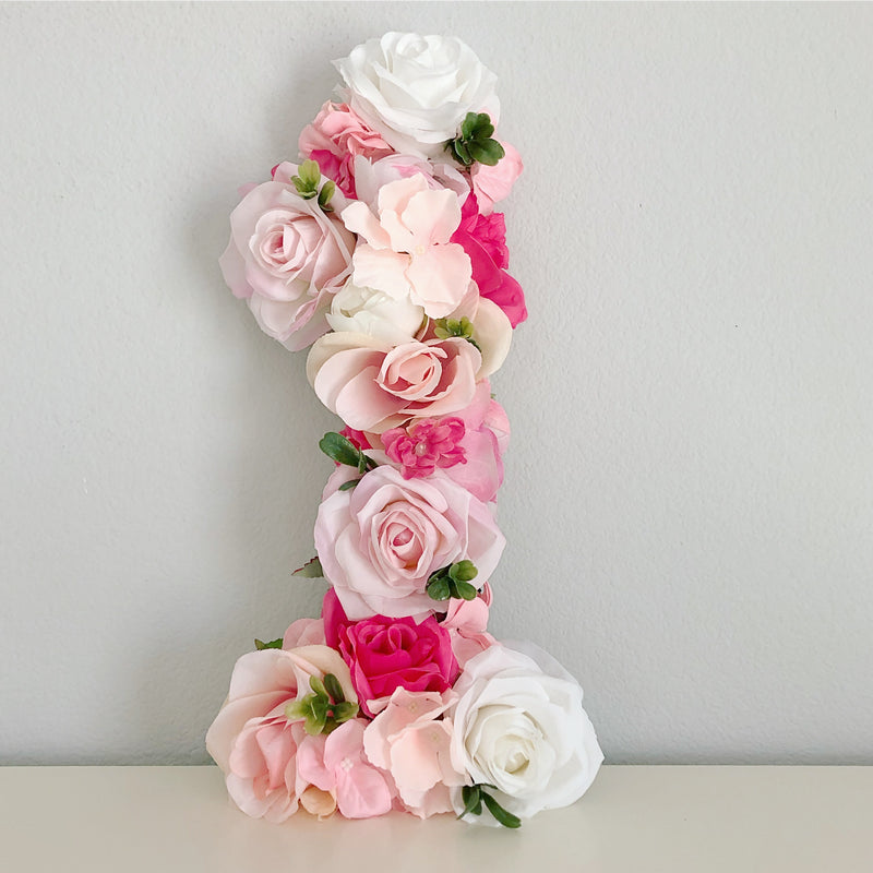 pink birthday decor floral birthday decor floral number