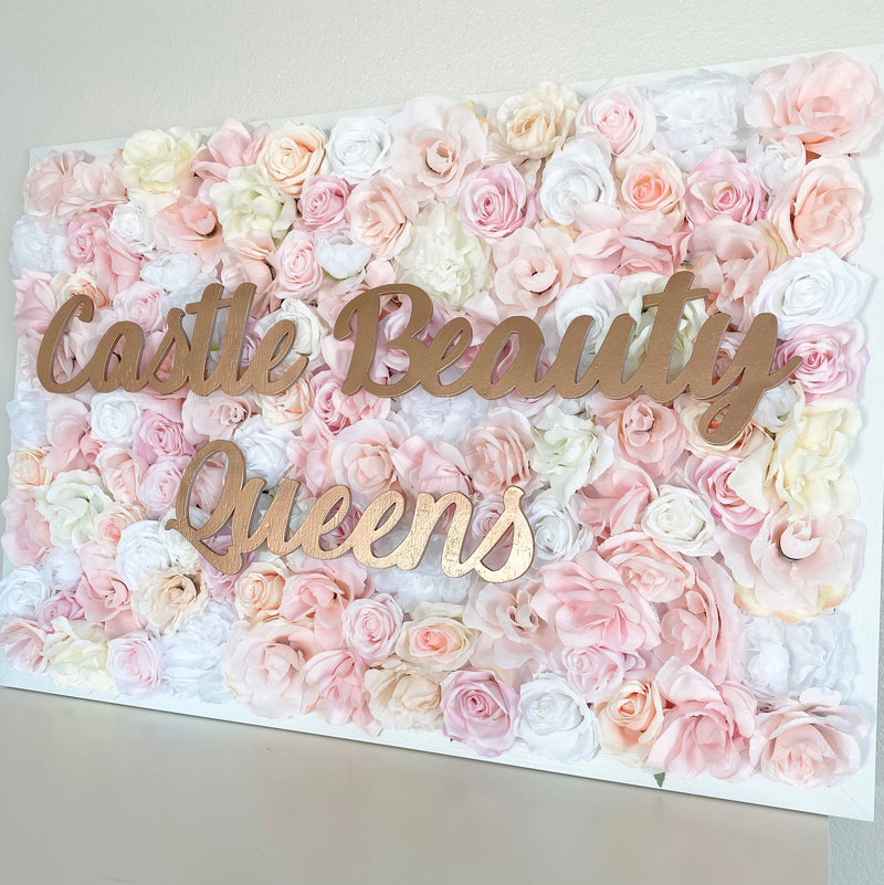 flower wall name sign nursery name sign nursery wall decor business sign