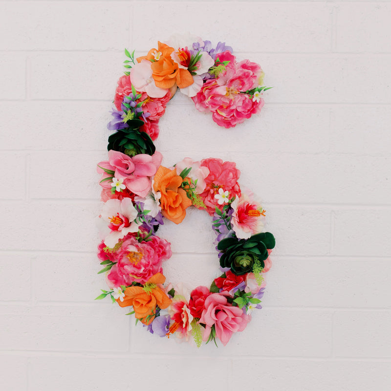 moana birthday Hawaiian birthday flower number floral number first birthday number 1st birthday photo