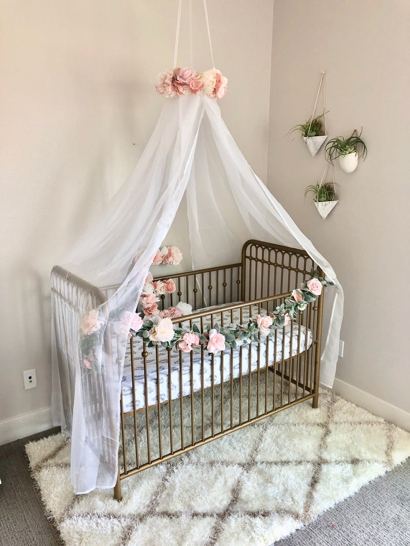 shabby chic nursery mobile canopy