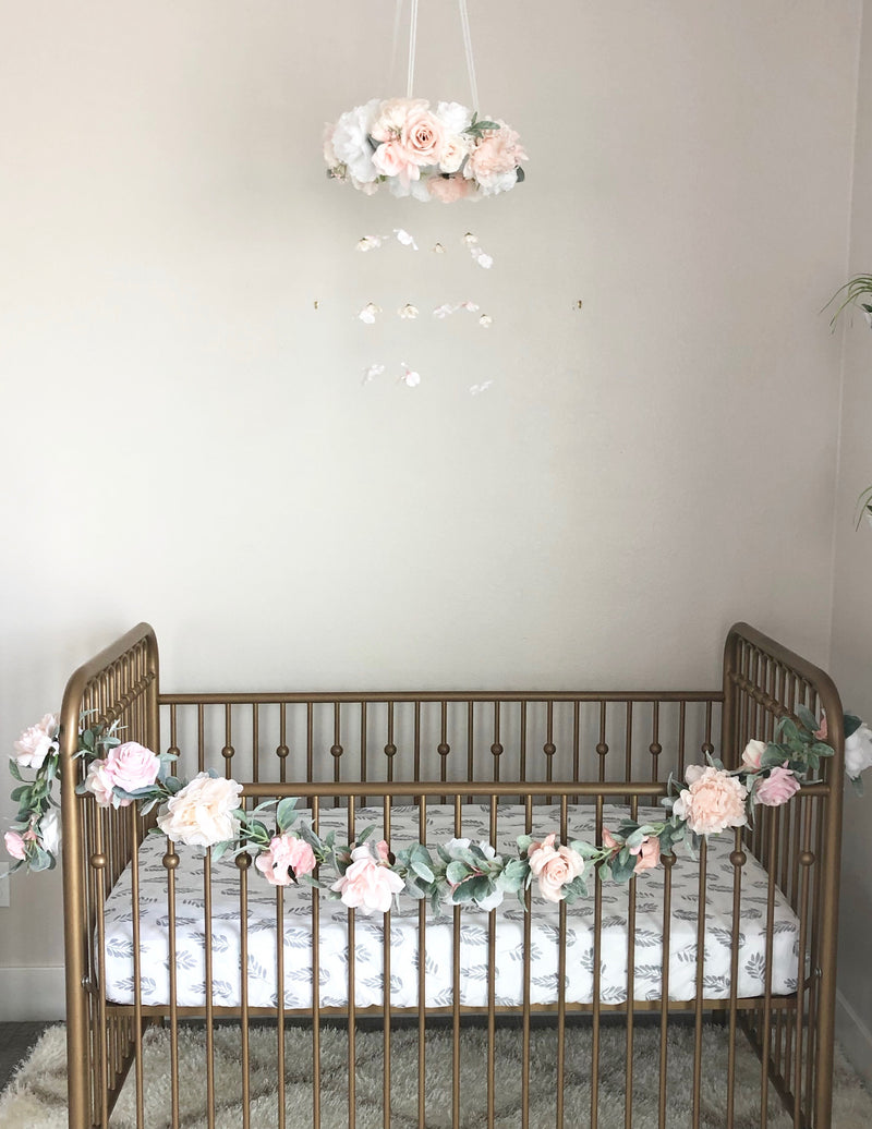 crib mobile floral mobile floral nursery decor floral