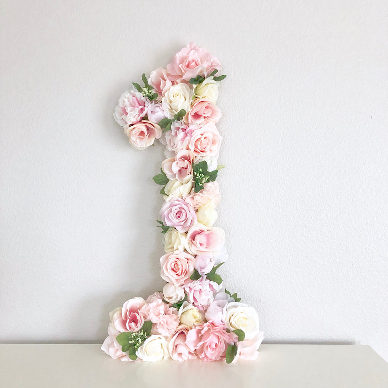 flower birthday party floral birthday number flower number floral number
