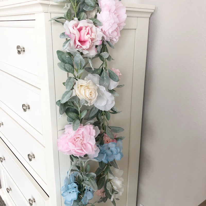 custom garland nursery garland decor floral nursery decor girl nursery baby shower decor bridal shower decor garland wedding garland