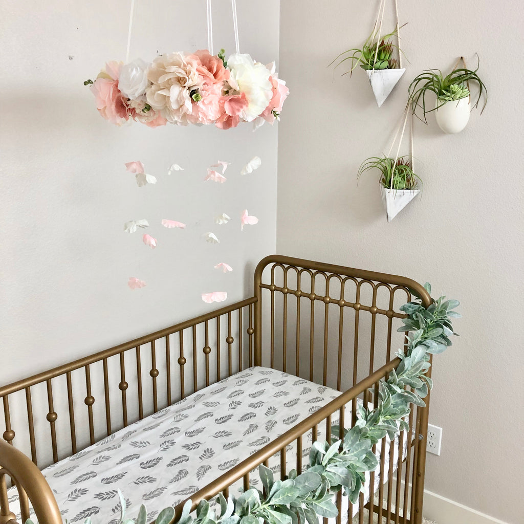 boho chic nursery floral decor granddaughter gift newborn gift