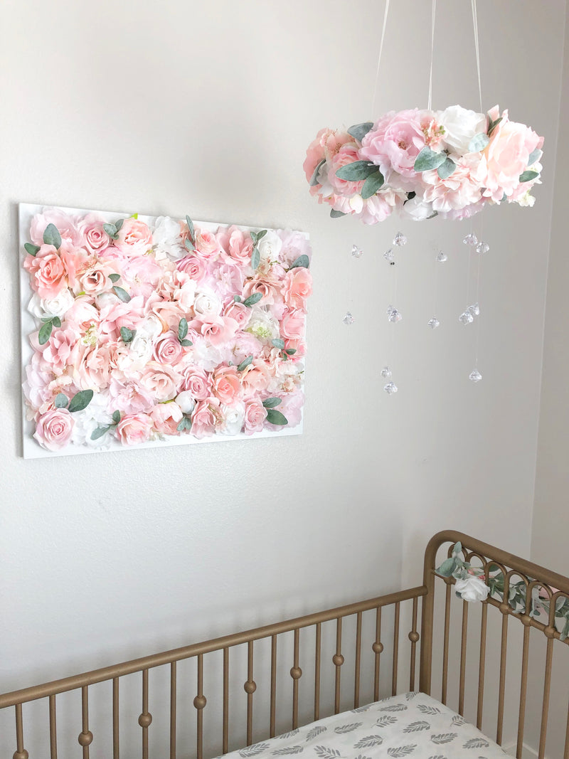 custom mobile girl nursery mobile decor girl floral nursery