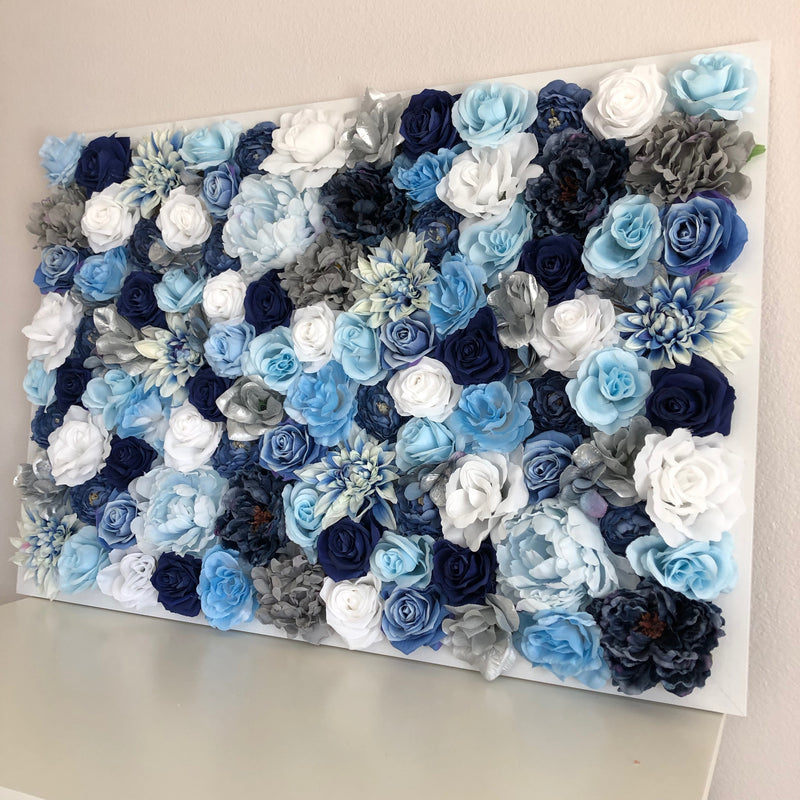 blue wall decor blue flower wall decor custom flower wall dahlia wall decor peony wall decor