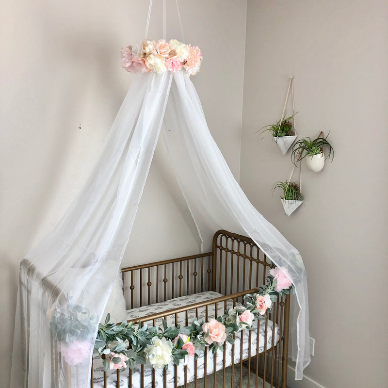 floral princess canopy