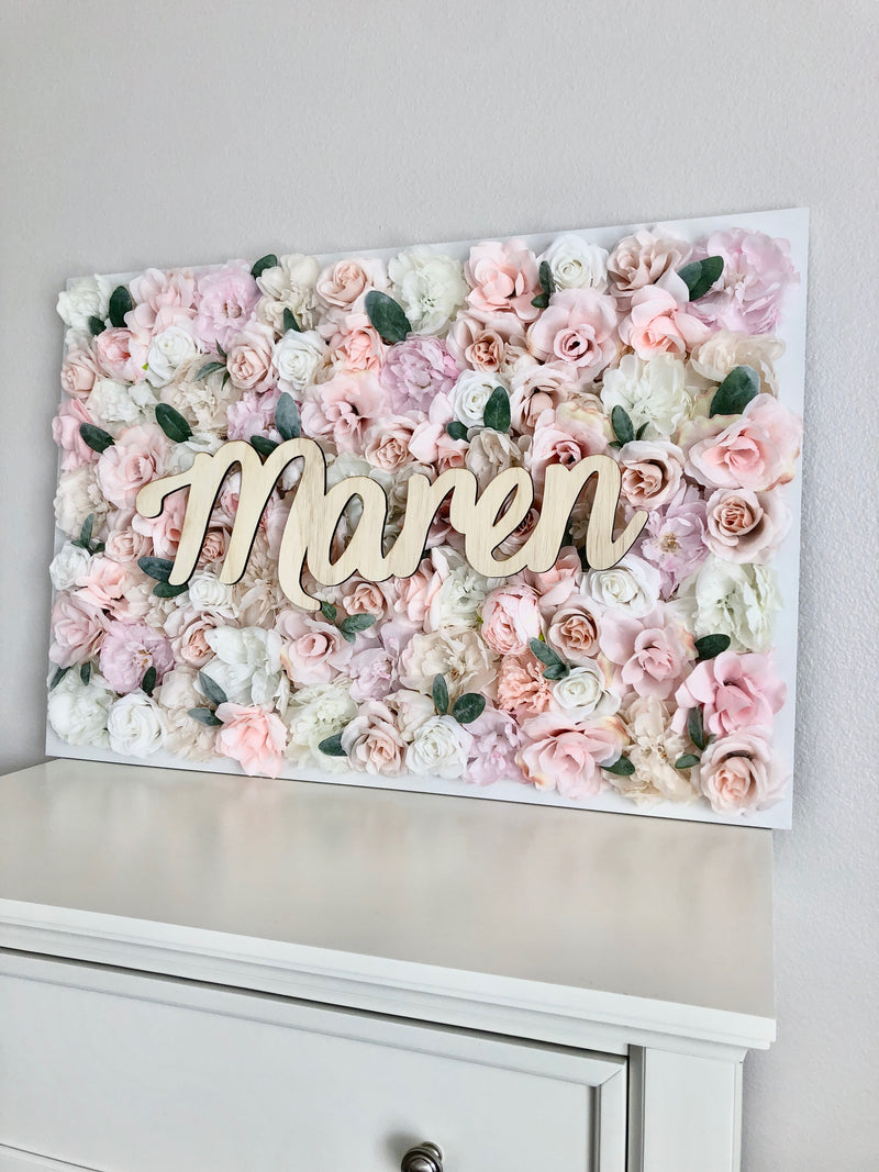 boho chic nursery decor flower wall nursery decor girl nursery decor name sign
