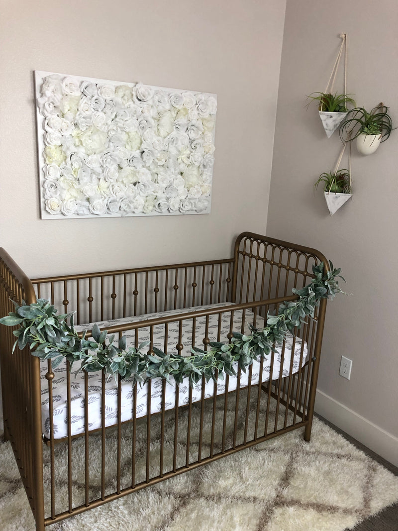 white nursery decor white girl nursery white gender neutral nursery white wall decor nursery statement piece flower wall white flower wall