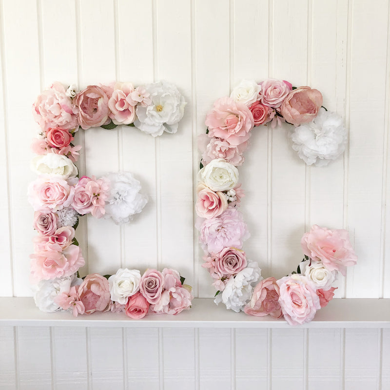 wedding initials wedding monogram bridal shower decor baby shower decor birthday party floral decor