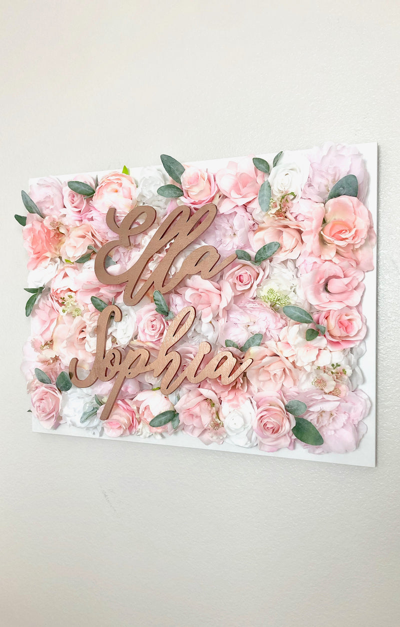 rose gold baby sign rose gold room decor rose gold floral decor rose gold bridal shower rose gold birthday decor rose gold party decor