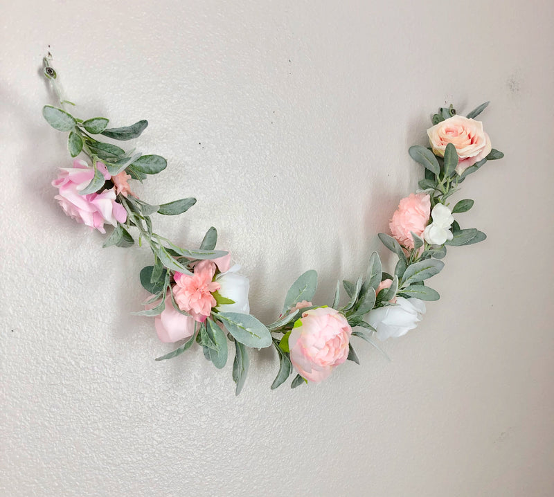 custom garland wedding garland boho wedding lambs ear garland peony garland