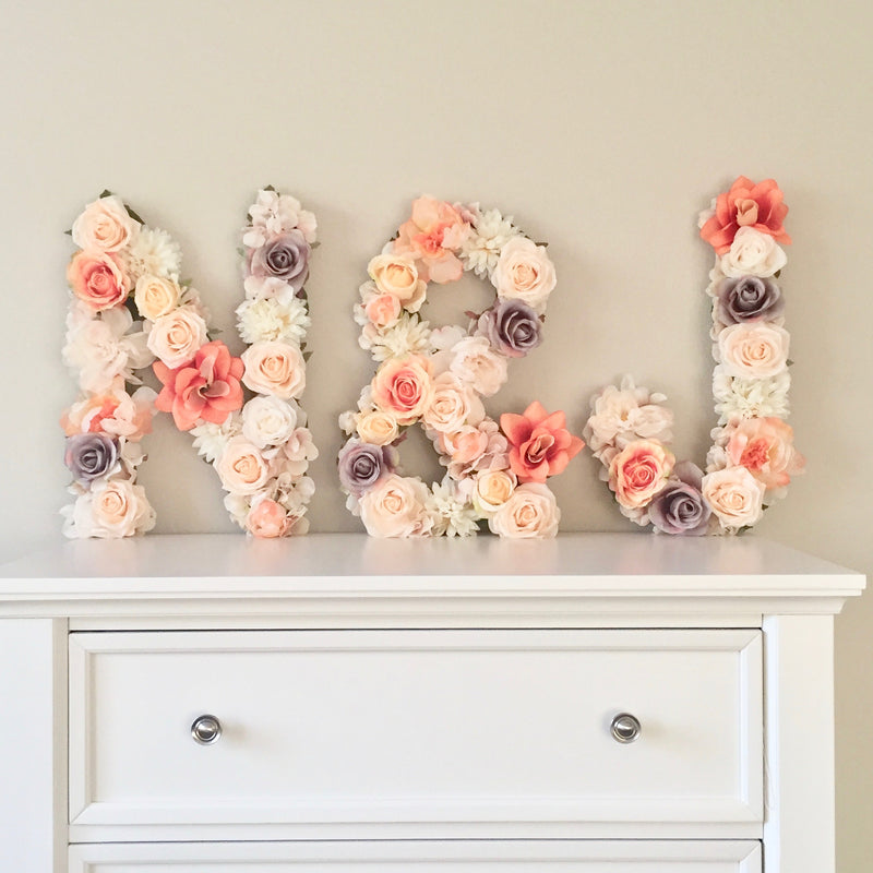 wedding monogram decor reception sign last name decor floral letter