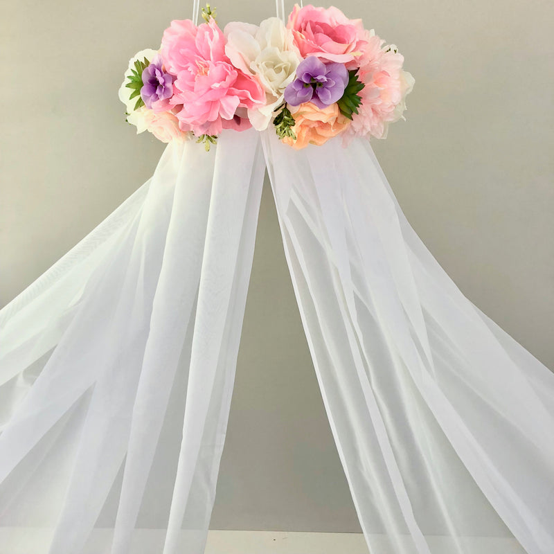 floral canopy floral mobile flower mobile canopy