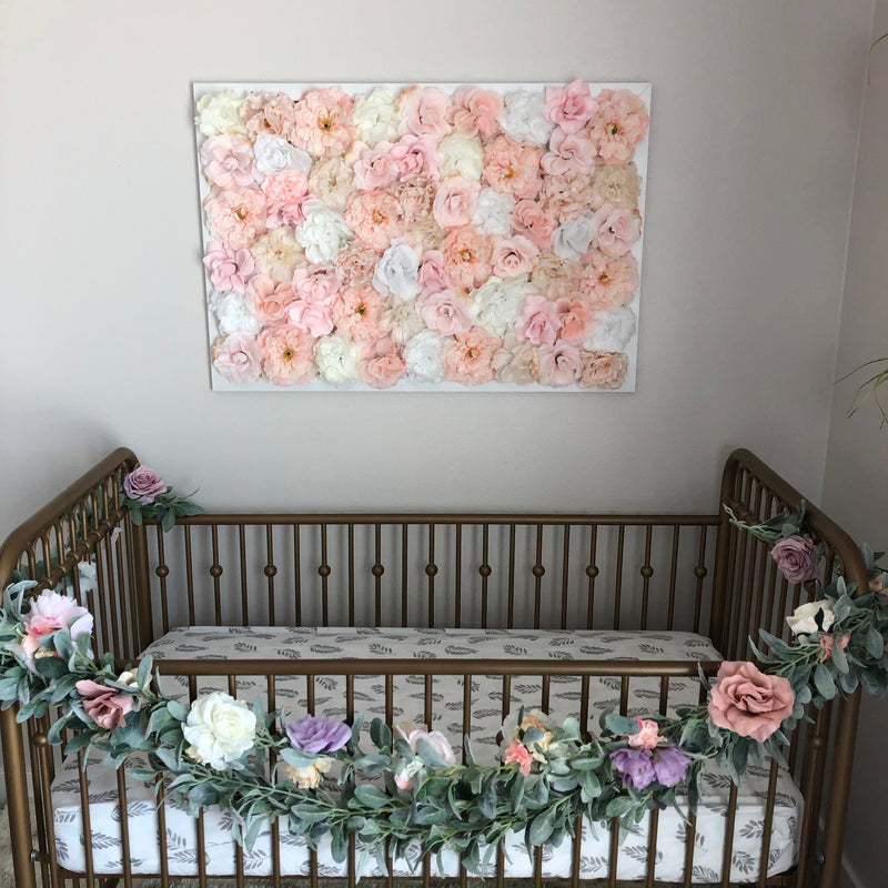 over the crib art over the crib decor girl crib decor girl crib gold crib flower wall crib flower wall nursery wall hanging girl
