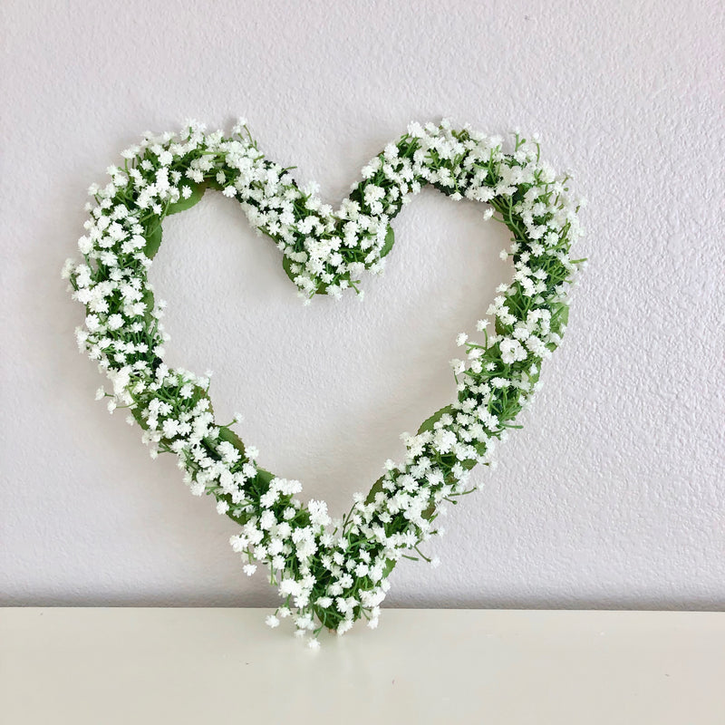 baby breath decor flower girl heart flower girl bouquet floral heart flower heart girl room decor bridal shower decor baby shower decor boho baby shower