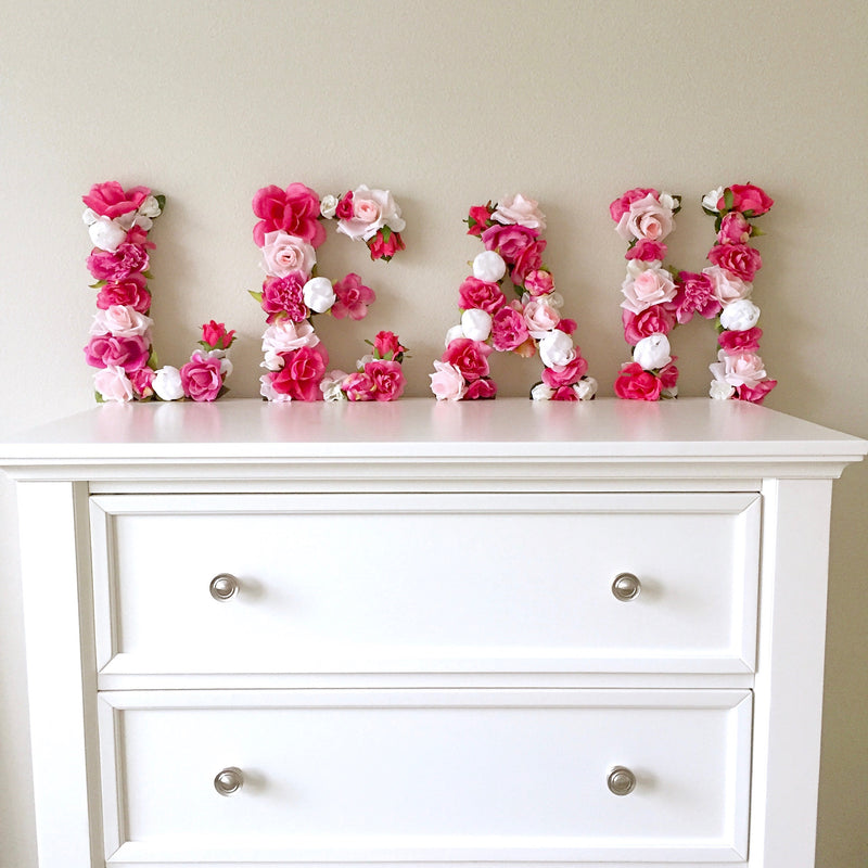 floral name sign girl name sign baby name sign flower letter