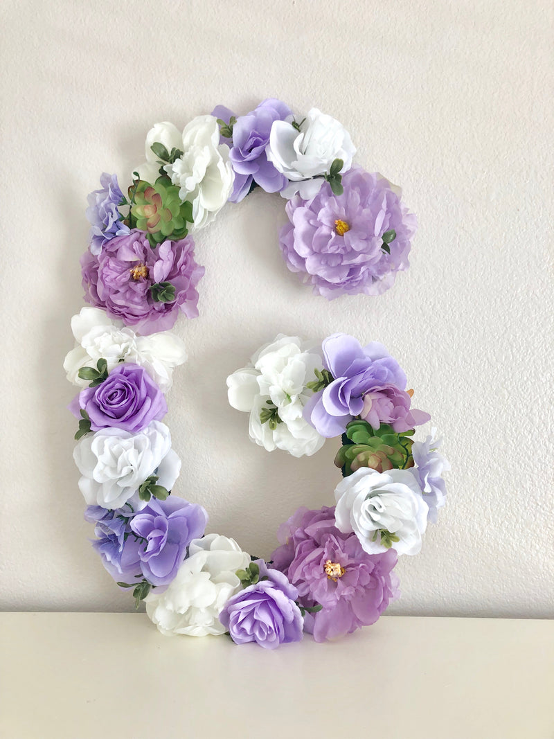 lavender nursery floral nursery flower nursery flower wall art flower wall name sign letters