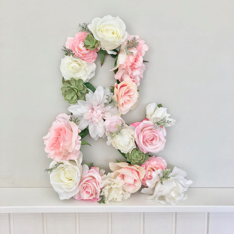 & sign decor floral letter flower letter wedding letters wedding initials