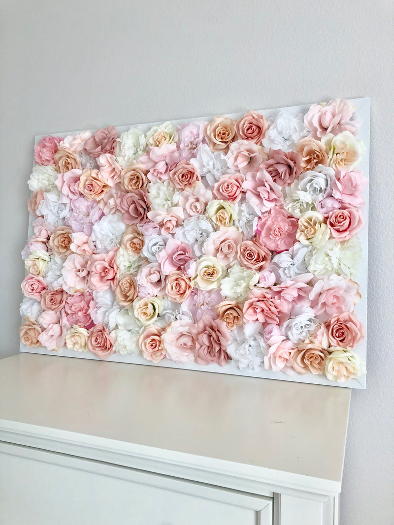 dusty pink nursery decor dusty pink decor wall decor girl nursery wall decor flower wall hanging