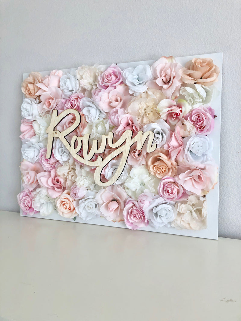 flower wall name sign birthday name sign floral birthday decor floral baby shower flower wall nursery decor girl nursery decor name sign