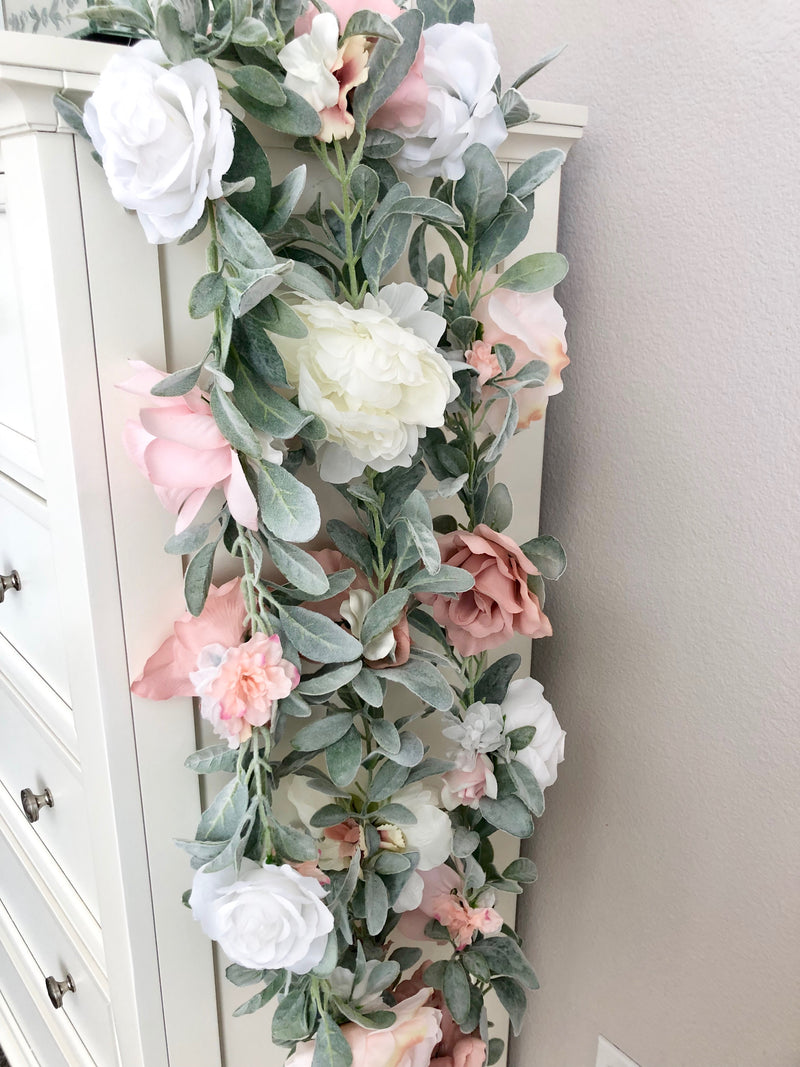 custom garland floral garland flower garland nursery garland baby shower table decor bridal shower table decor flower wall backdrop