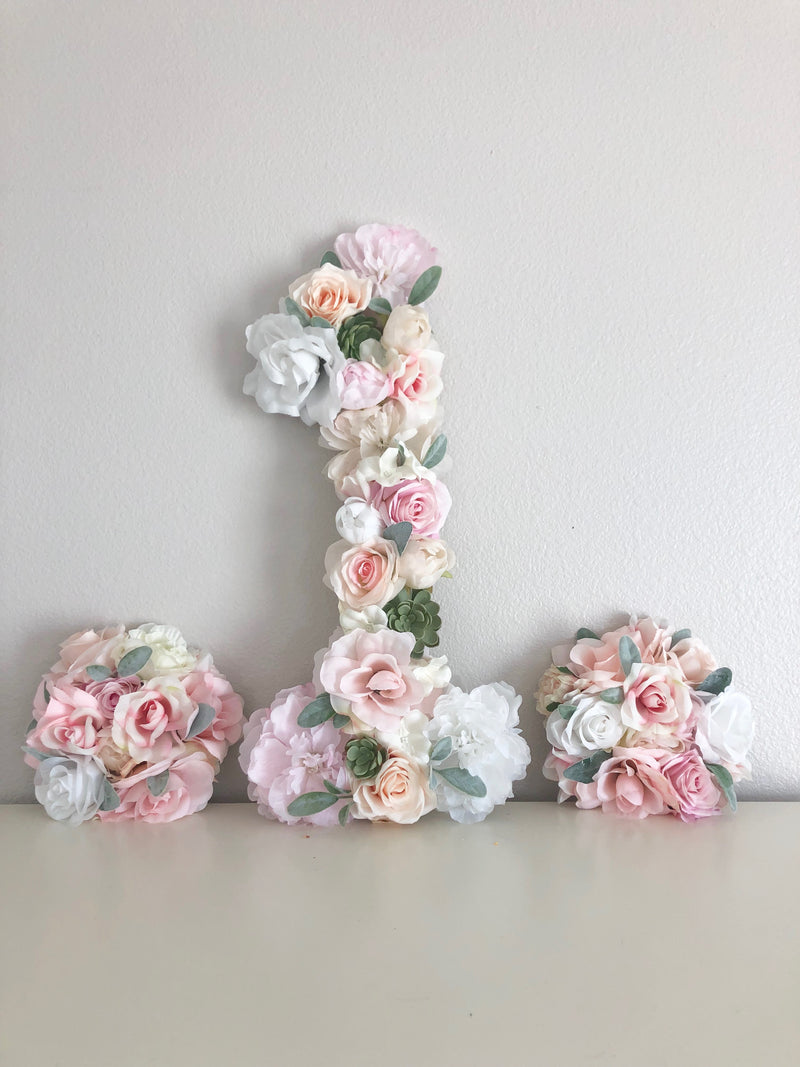 flower number floral number first birthday number 1st birthday photo
