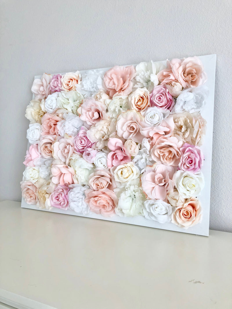 flower wall hanging custom flower wall pink and gold nursery blush and gold nursery blush and gold shower flower wall