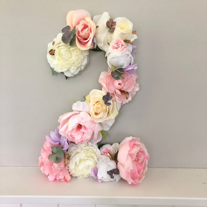 pink and gold birthday decor birthday number flower number floral birthday