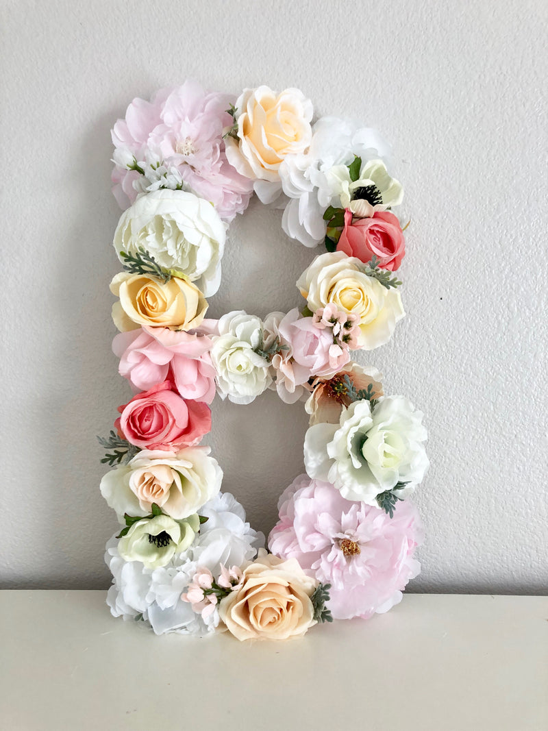 floral letter name sign flower letter name sign baby girl name sign