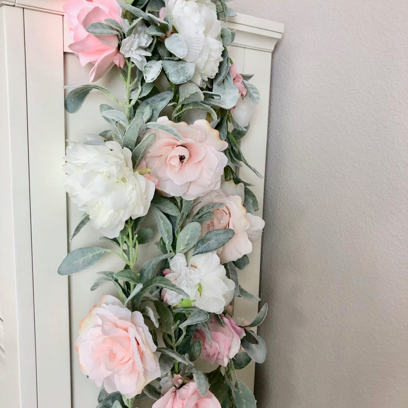 blush garland blush nursery decor blush pink garland peony wall decor peony garland peony baby shower peony bridal shower