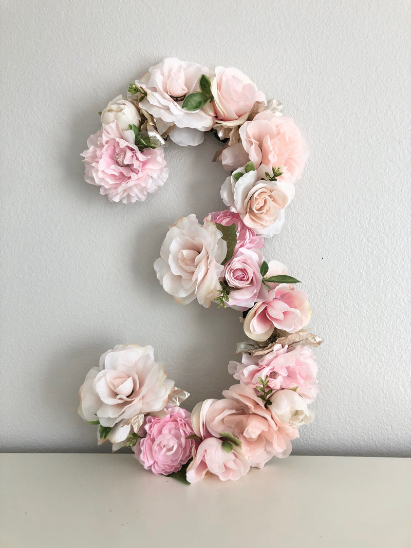 third birthday decor floral birthday party decor 3rd birthday number