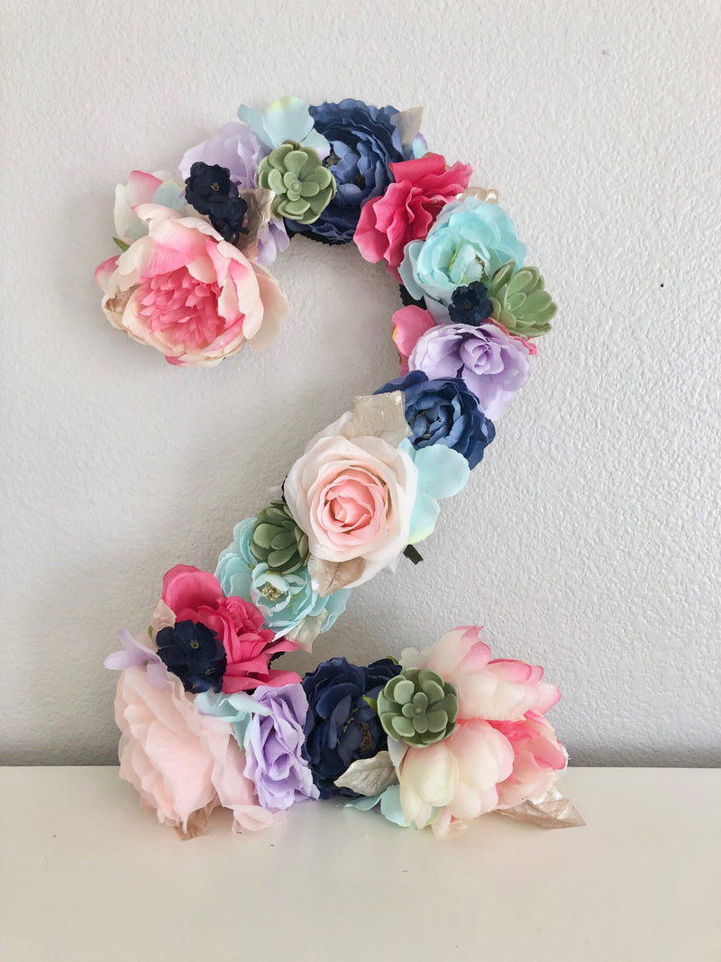 second birthday decor floral birthday party decor 2nd birthday number