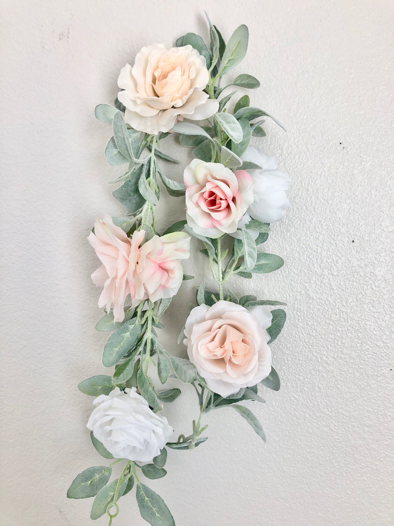 peach nursery decor blush nursery decor baby shower garland bridal shower garland baby shower decor boho shower decor