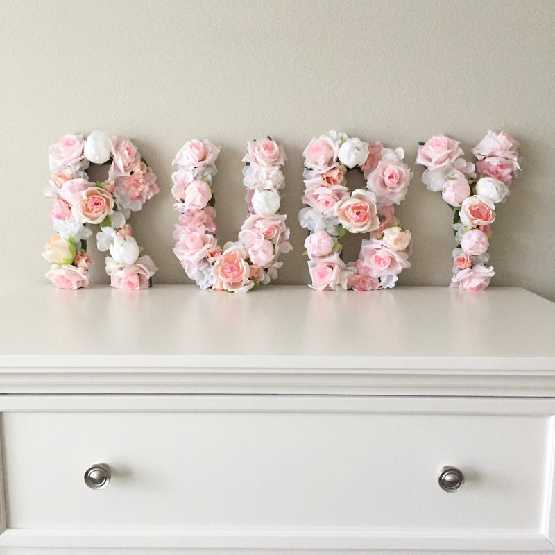 baby name sign nursery name sign nursery sign floral letter flower letter