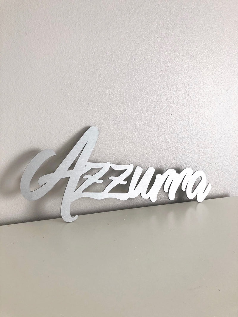 wood name sign acrylic name sign