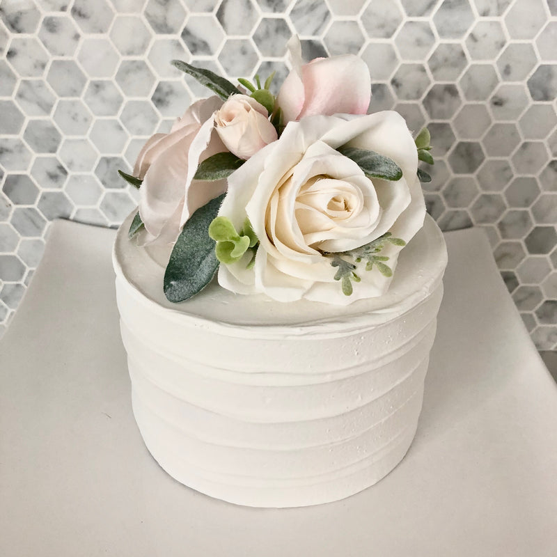 wedding cake topper ivory floral cake topper ivory wedding flowers