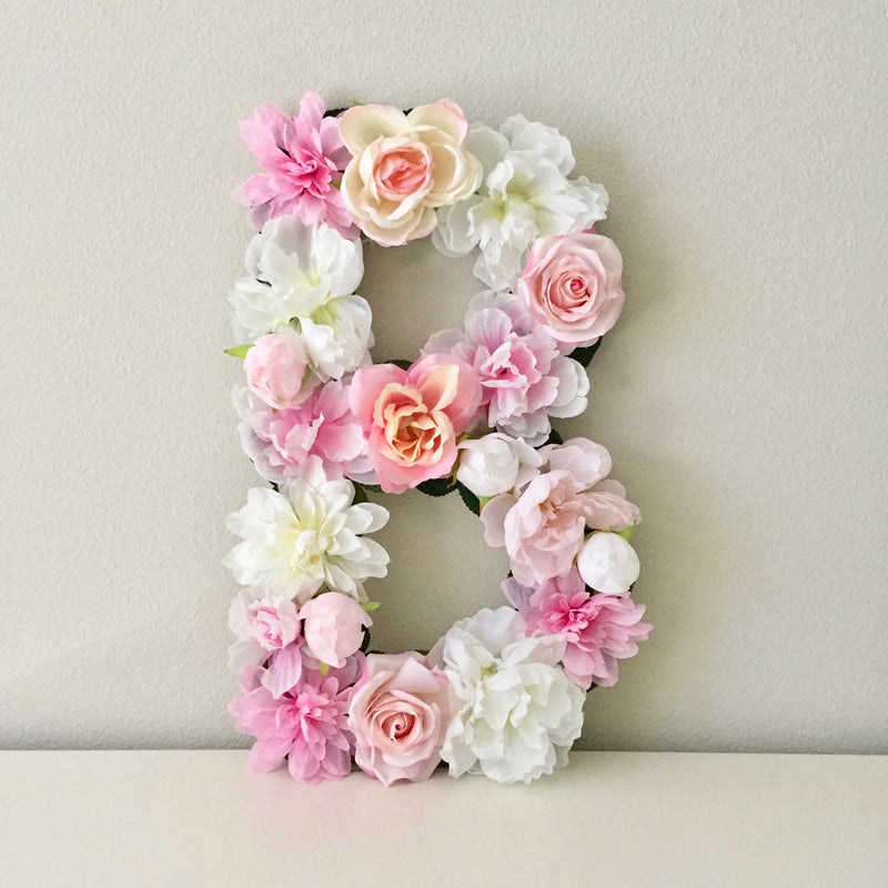 custom floral letter custom name decor custom name sign girl name sign